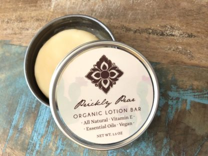 prickly pear organic vegan lotion bar