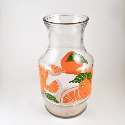 oranges glass juice jug