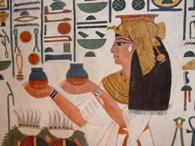 storia olivo dettaglio tomba di Nefertari