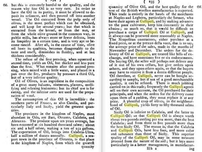 storia olivo the Dictionary of Merchandize gallipoli 2