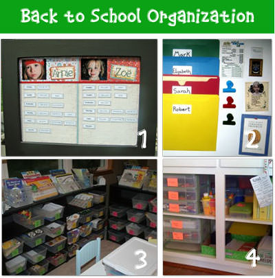 activities for kids Get Organized for School {8 DIY Ideas}