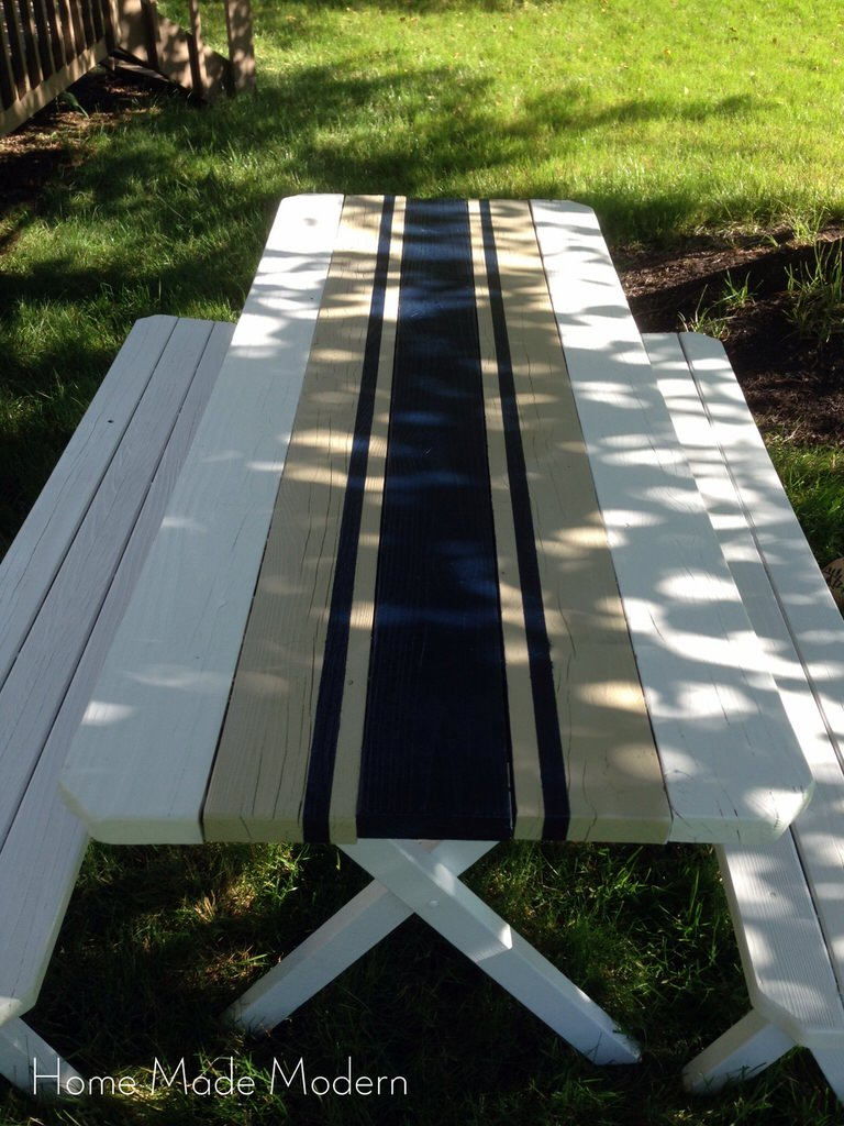 Painted French Linen Table Runner