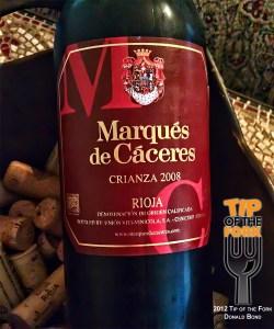 Marques de Caceres Rioja Crianza Red 2008