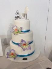 Topper cake con plexiglas specchiato