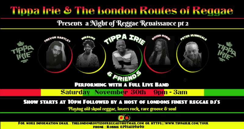 Tippa Irie & The London Routes of Reggae of Reggae
