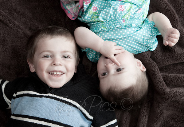 It took a little prompting, but once I got Hayden smiling, it was almost impossible to have him stop! It was also precious watching how Maeve just LOVES her big brother!