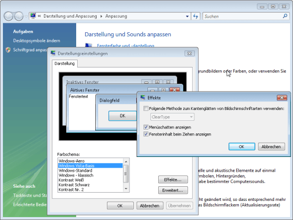 Cleartype in Windows Vista abschalten