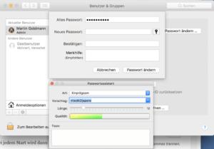 Mac Passwort ändern