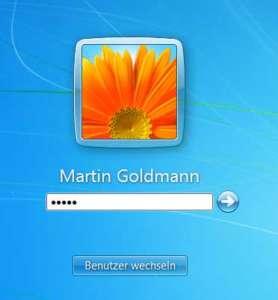 Anmeldung als normaler Benutzer in Windows 7