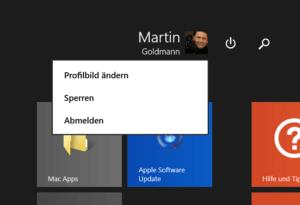 Profilbild ändern in Windows 8.1