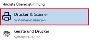 Drucker und Scanner