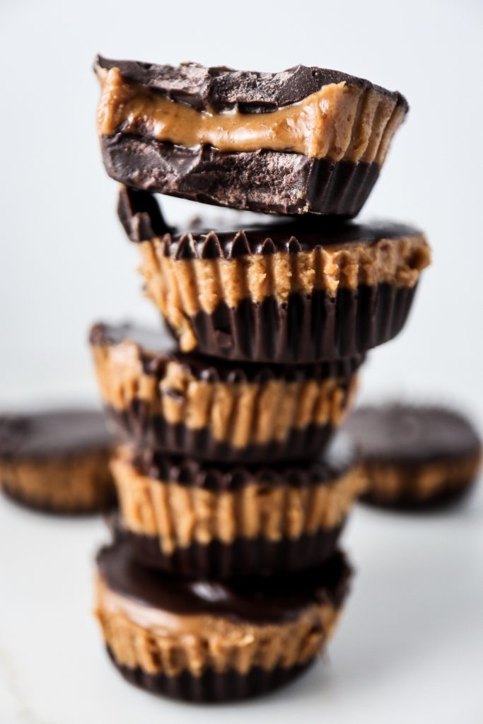 Dark Chocolate Cookie Butter Cups