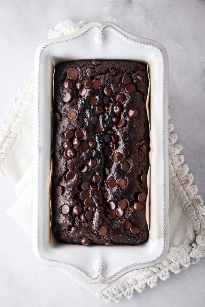 One Bowl Chocolate Zucchini Bread (Gluten Free)