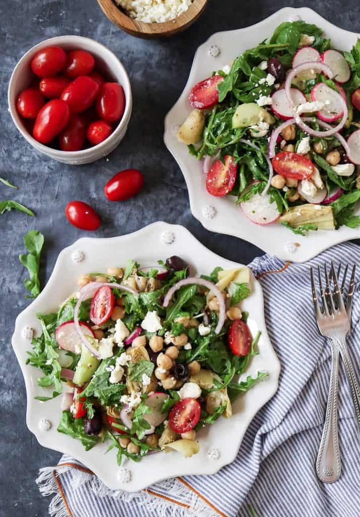 Chopped Mediterranean Chickpea Salad