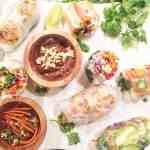 Spicy Garlic Shrimp & Veggie Spring Rolls