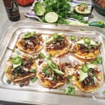 Chicken Chorizo and Crispy Brussels Sprouts Tostadas