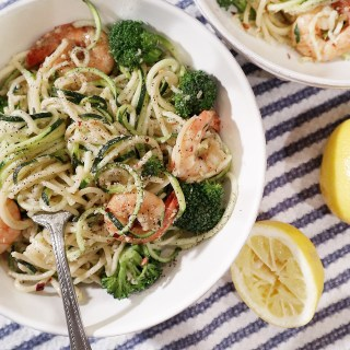 Spicy Shrimp Zoodles & Spaghetti