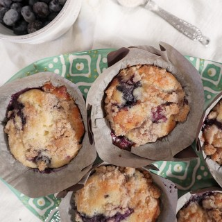 Blueberry Muffins with Cinnamon Crumb Topping