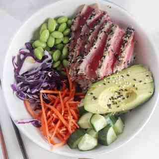 Sesame Crusted Ahi Tuna Salad