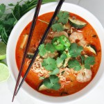 Red Curry Shrimp Ramen Noodles