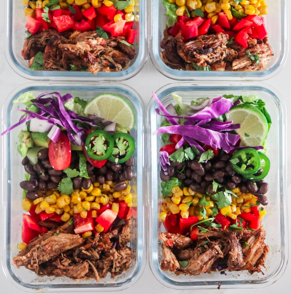 Pork Carnitas Taco Bowls (Meal Prep)