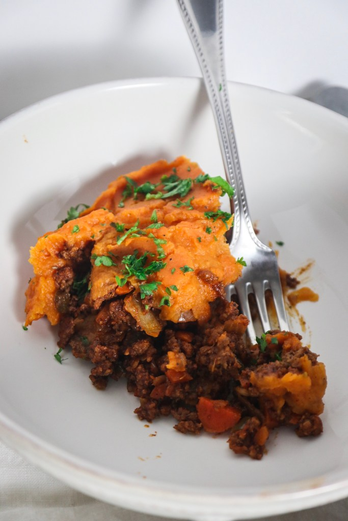 Whole 30 Sweet Potato Shepherds Pie