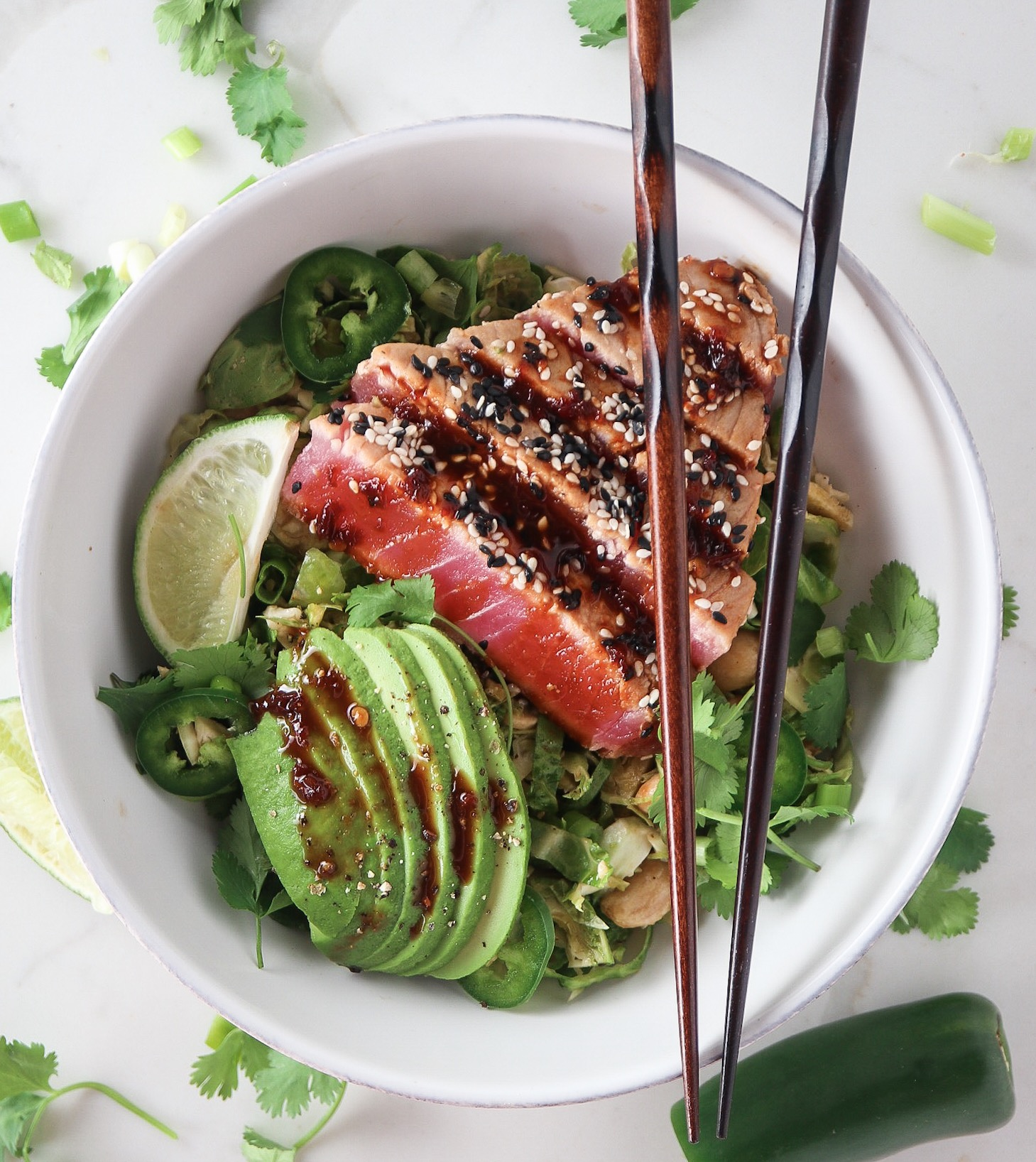 Seared Fresh Tuna Salad with Red Curry Dressing Recipe pics