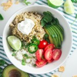 Tomatillo Chicken and Rice Bowls