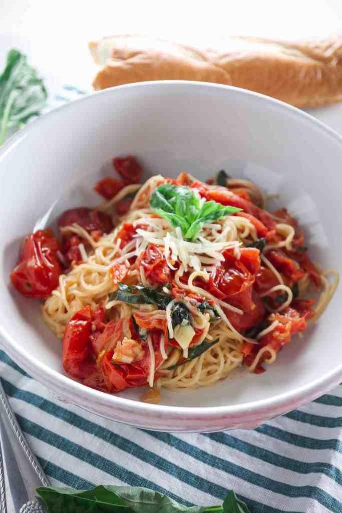 Roasted Tomato Angel Hair Pasta