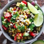 Avocado Black Bean Charred Corn Salsa