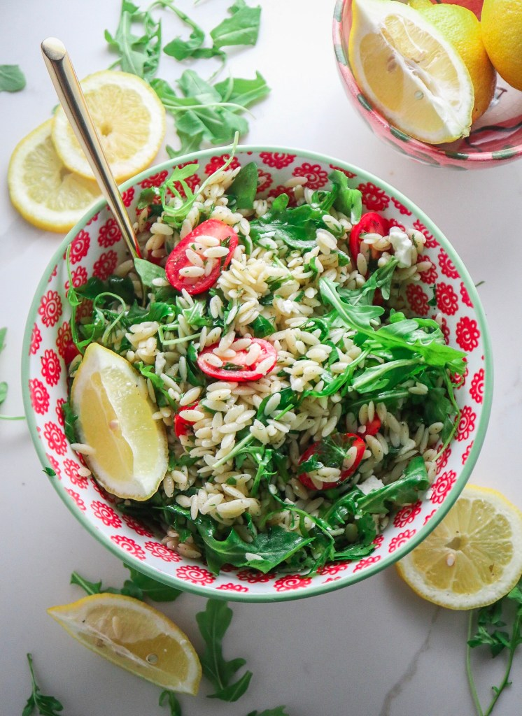 Lemon Herb Orzo Salad