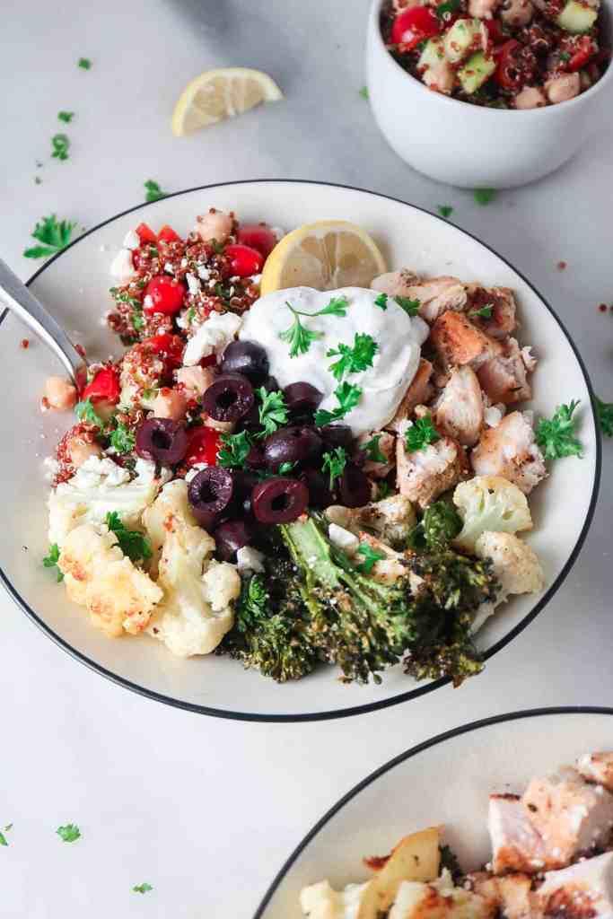 Mediterranean Chicken Bowls