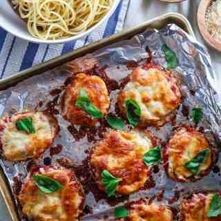Sheetpan Eggplant Parmesan