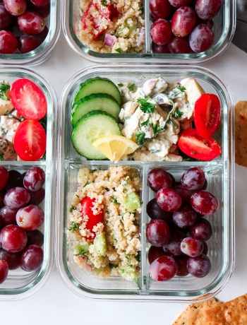 Chicken Salad and Quinoa Tabouli Lunch Boxes