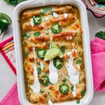 Green Chile Chicken & Kale Enchiladas