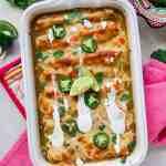 Green Chile Chicken & Kale Enchiladas