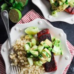 Blackened Salmon with Avocado Cucumber Salsa