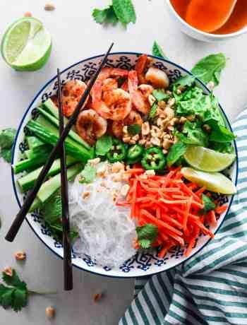 Vietnamese Shrimp Vermicelli Noodle Bowls