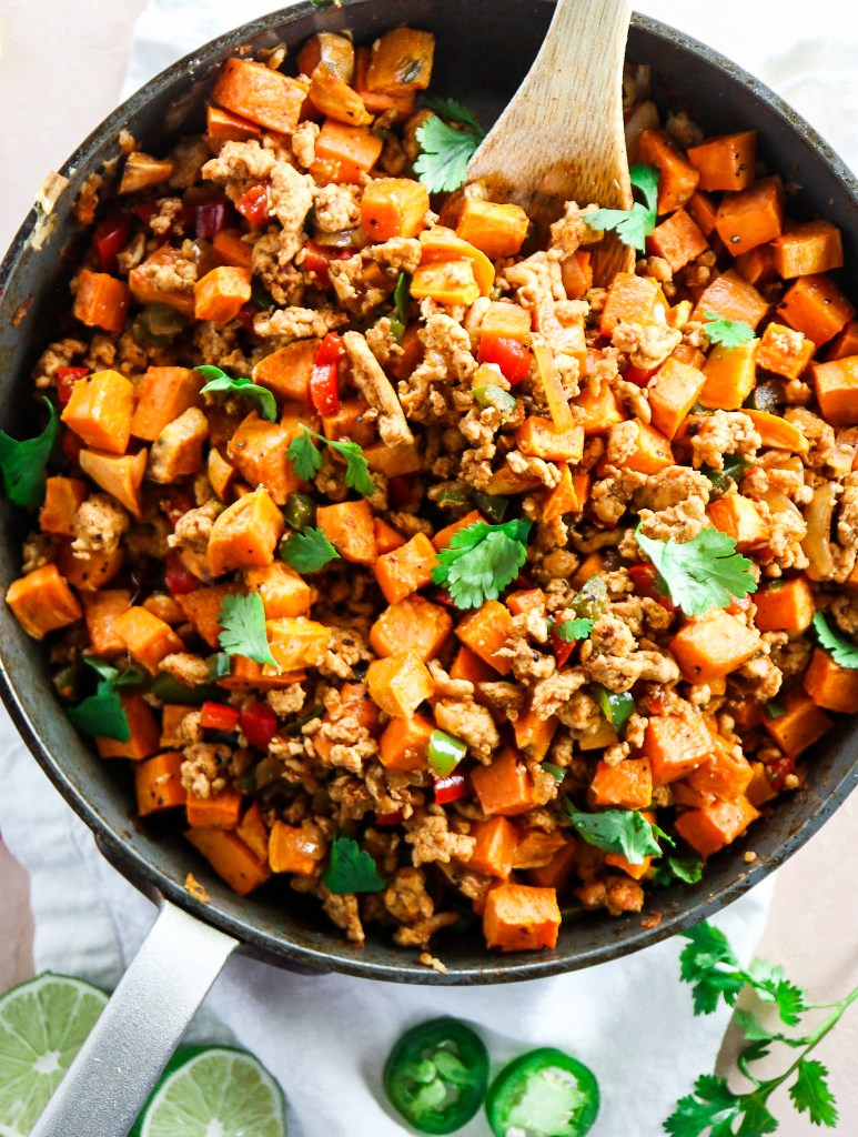 Ground Turkey Sweet Potato Breakfast Hash