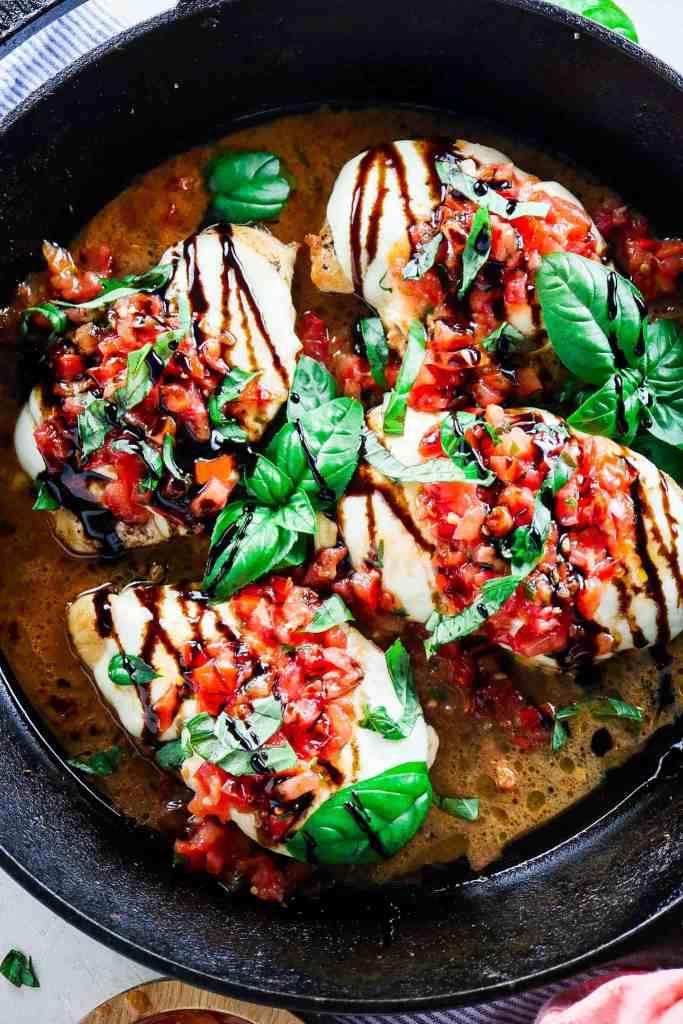 5 Ingredient Bruschetta Chicken (All ingredients from Trader Joe's!)