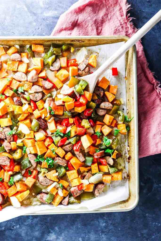 5 Ingredient Sheet Pan Sweet Potato Hash