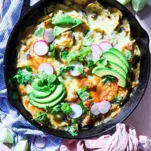 5 Ingredient Green Chile Chicken Enchilada Casserole
