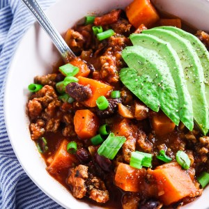 Healthy One Pot Sweet Potato Turkey Chili