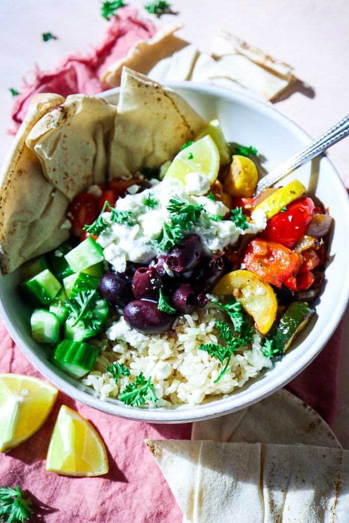 Easy Greek Veggie Bowls