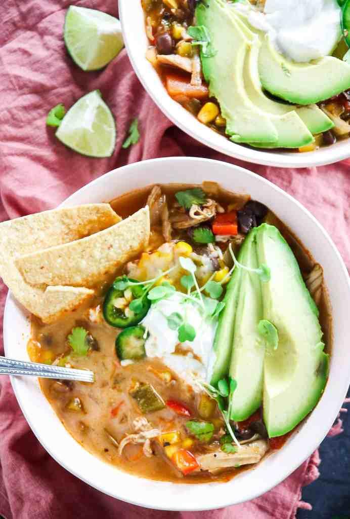 Easy 30 Minute Chicken Tortilla Soup