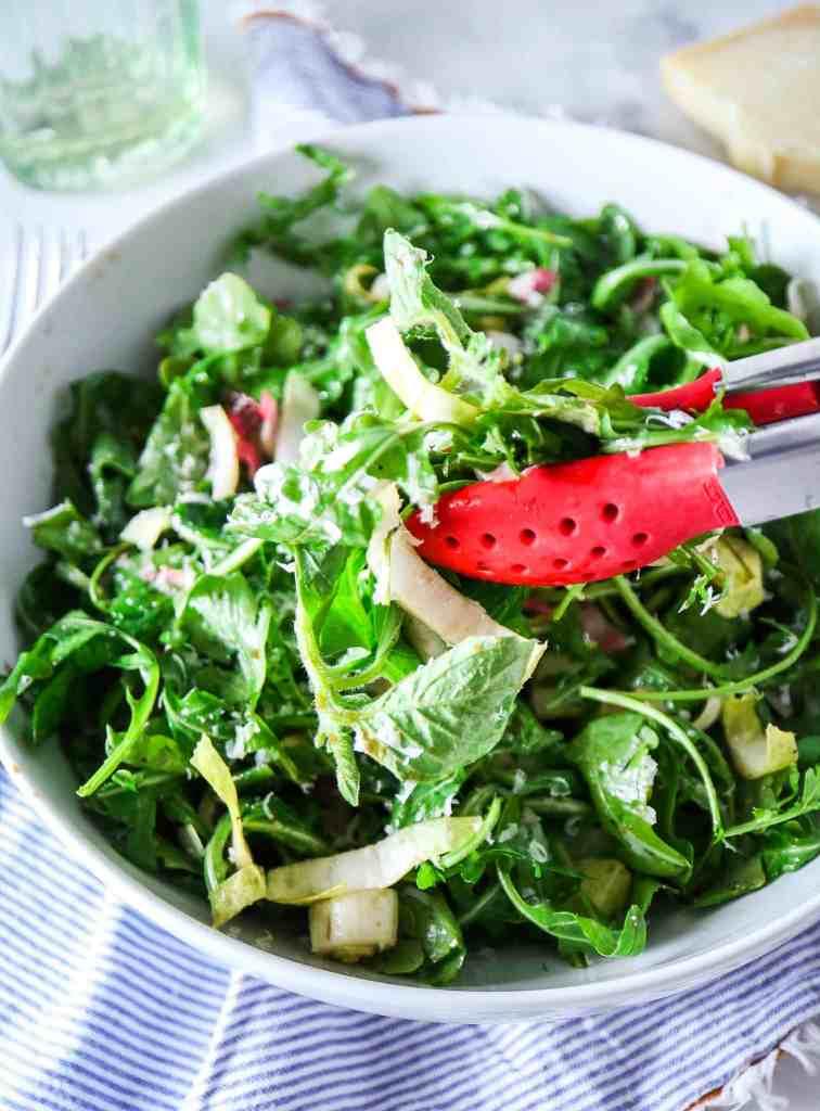 Super Simple Arugula Endive Weeknight Salad