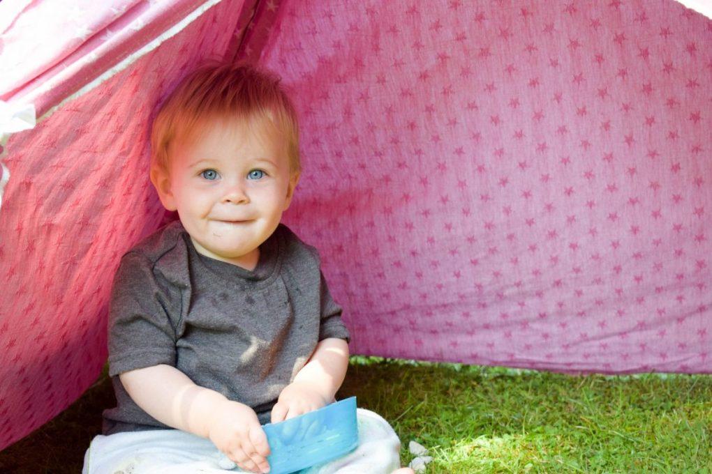 Back Garden Adventures - set up camp