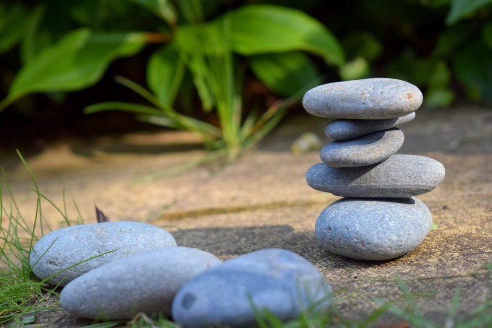 Back Garden Adventures - balancing stones