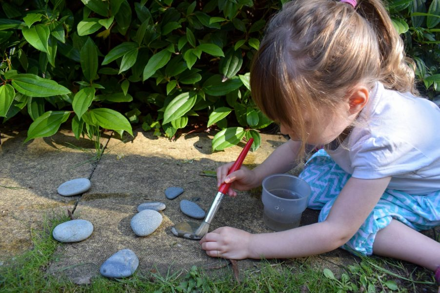 Back Garden Adventures - painting with water