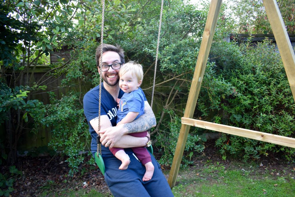 Garden Fun - new swing for the back garden